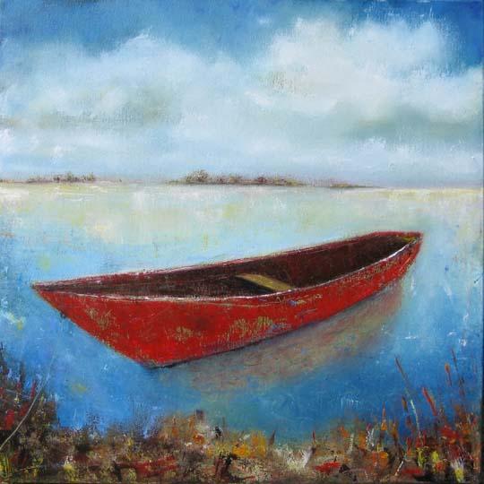 Canoe Oil Painting